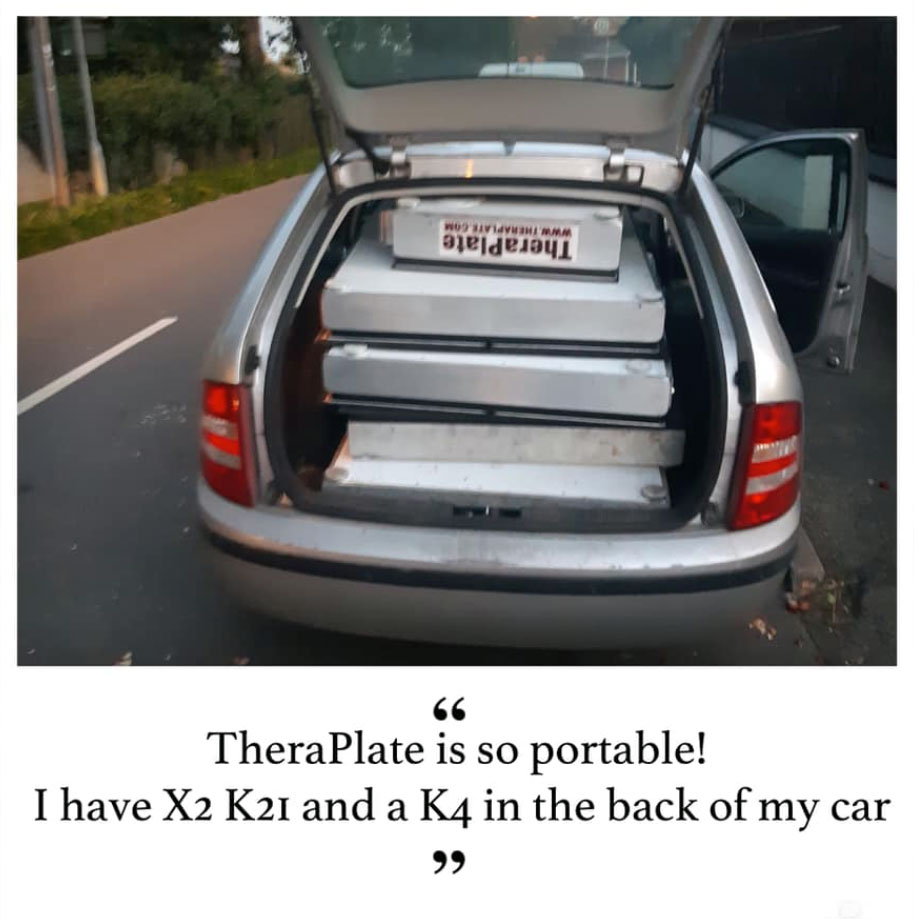 TheraPlate portable car